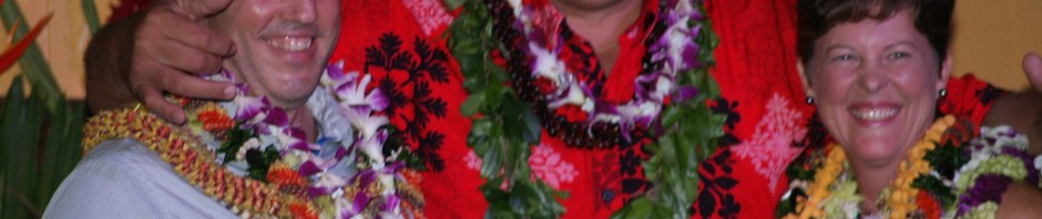 Mayor Bernard Carvalho congratulates Donna Rice, incoming President, Kauai Board of Realtors.